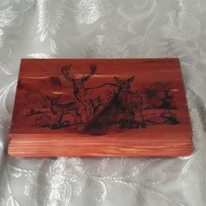 Deer cedar box